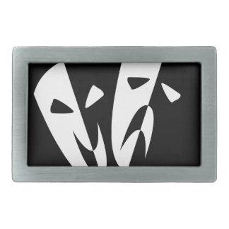 Stage Masks Rectangular Belt Buckles