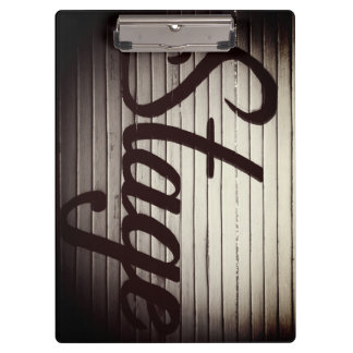 """Stage"" Vintage Sign Clipboard"