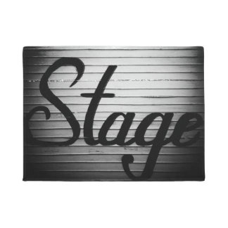 """Stage"" Vintage Sign Doormat"