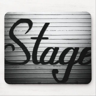 """""""Stage"""" Vintage Sign Mouse Pad"""