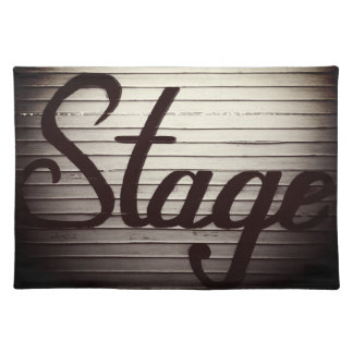 """""""Stage"""" Vintage Sign Placemat"""