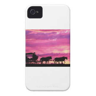 Stagecoach At Sunset iPhone 4 Cases
