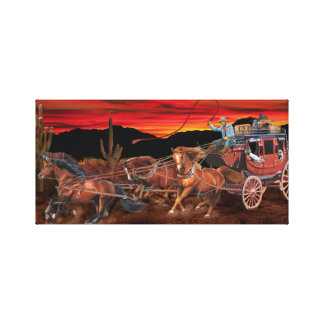 STAGECOACH COWBOYS CANVAS PRINT