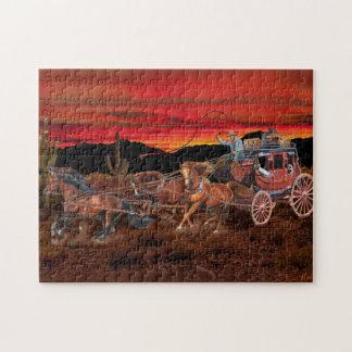 STAGECOACH COWBOYS JIGSAW PUZZLE