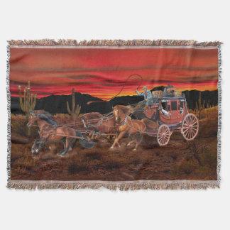 STAGECOACH COWBOYS THROW BLANKET