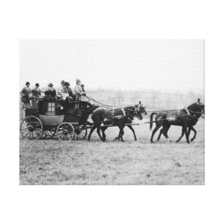 Stagecoach Cross Country Race Photograph Stretched Canvas Prints