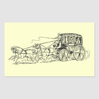 Stagecoach Rectangular Sticker
