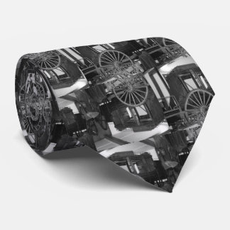 Stagecoaches Black and White Mens Tie