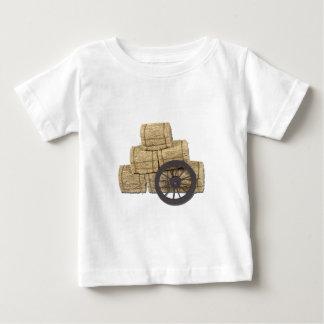 StagecoachWheelBalesHay112611 Baby T-Shirt