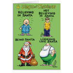 Stages Of Christmas Humour Holiday Card