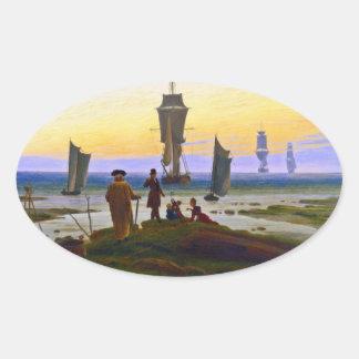 Stages of Life: Die Lebensstufen by Friedrich Oval Sticker