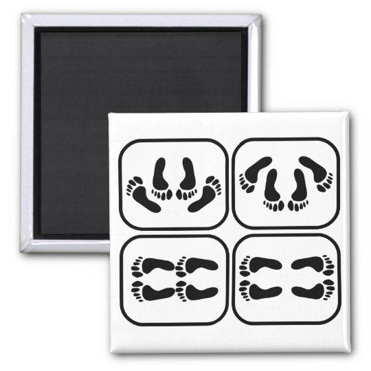 Stages of Marriage Square Magnet