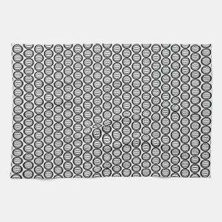 staggered stripe black and white tea kitchen towel