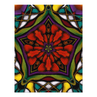 Stain Glass Abstract Invites
