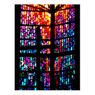 Stain Glass Cross Postcard