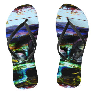Stain Glass Nature Thongs