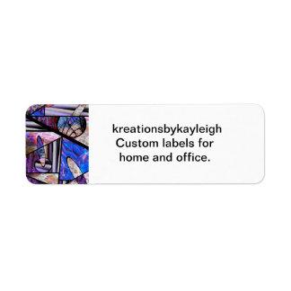 Stain Glass  Photo Collage Return Address Label