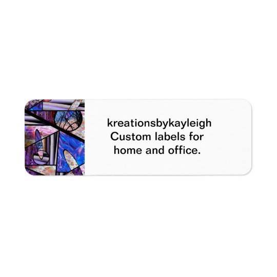 Stain Glass  Photo Collage Return Address Label