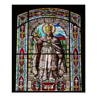 Stain glass poster