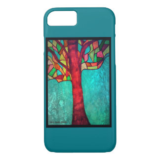 Stain Glass Tree design iPhone 8/7 Case