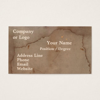 Stained Cardboard Business Card