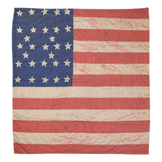 Stained Distressed Union Army Civil War Flag Bandanna