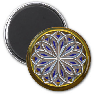 Stained Glass 6 Cm Round Magnet