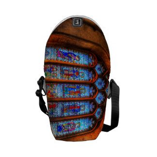 Stained Glass Abbey Window Courier Bags