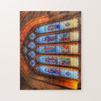 Stained Glass Abbey Window Jigsaw Puzzle