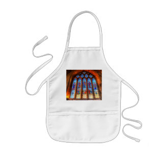 Stained Glass Abbey Window Kids Apron