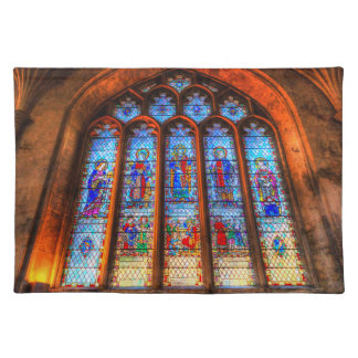 Stained Glass Abbey Window Placemat