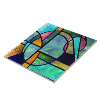 stained glass abstract tiles - photo #1