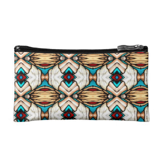 Stained Glass Abstract Art Background Cosmetic Bag