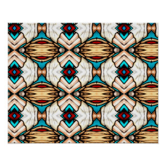 Stained Glass Abstract Art Background Poster