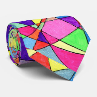 """""""Stained Glass"""" Abstract Design Tie"""