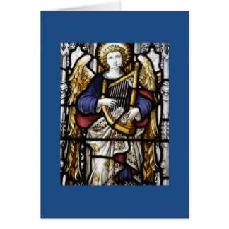 Stained Glass Angel Blank Card