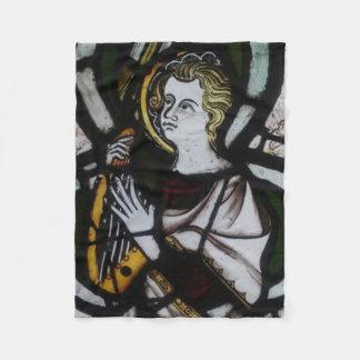 Stained Glass Angel Fleece blanket