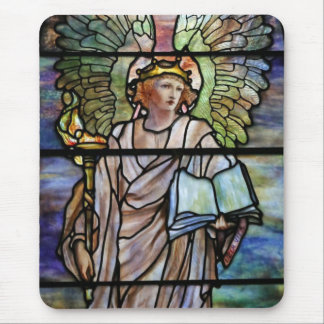 Stained Glass Angel from St. Johns Mouse Pad