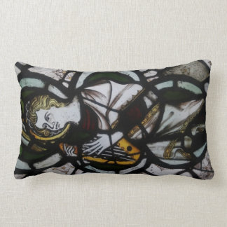 Stained Glass Angel Lumbar Pillow