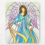 Stained Glass Angel Mouse Mat