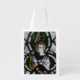 Stained Glass Angel Reusable tote