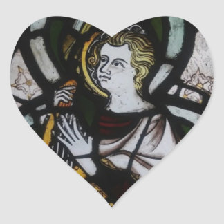 Stained Glass Angel Sticker