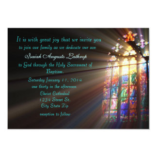 Stained Glass Baptism Invitation/Announcement Card