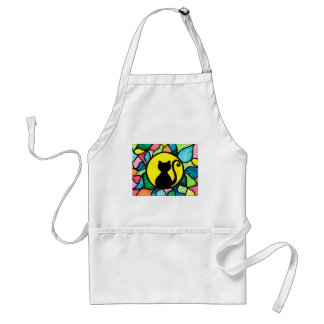 Stained Glass Black Cat Apron