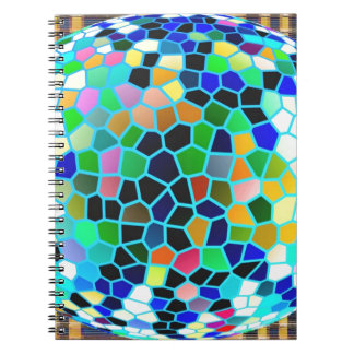 Stained Glass Blue : Artistic Signature Graphics Note Books