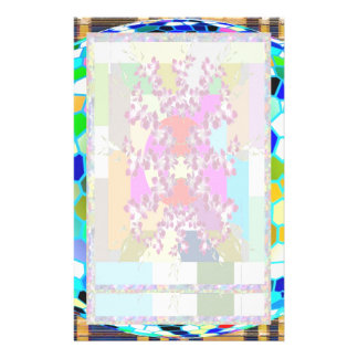 Stained Glass Blue : Artistic Signature Graphics Personalized Stationery