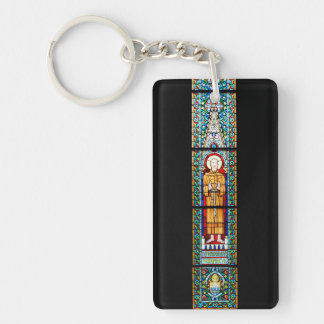 stained glass budapest religion cathedral Matthias Key Ring