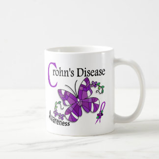 Stained Glass Butterfly 2 Crohn s Disease Mugs