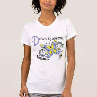 Stained Glass Butterfly 2 Down Syndrome T-shirts