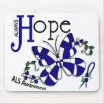 Stained Glass Butterfly ALS Mousemats